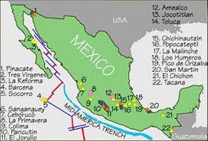 Volcano El Chichon Mexico - Active volcanoes in mexico