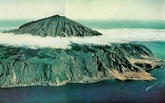 Volcano On Tristan Da Cunha The Eruption - Tristan da cunha map